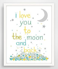 'I Love You To The Moon' Wall Art