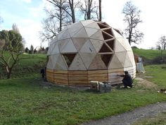 Pelleco Yurt Home, Geodesic Dome Homes, Pop Up Restaurant, Jungle Gym, Dome House, Yurts, Tiny House Living, Wine Cellar, Montessori