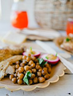 Picnic menu: marinated chickpeas