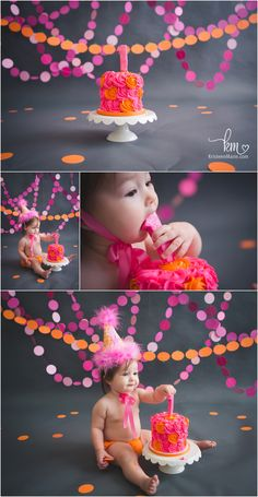I love the gray background and the bright colors. Super cute and different!