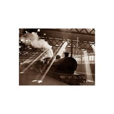Steam Train Leaving Euston Station, April 1928 Photographic Wall Art... (€36) ❤ liked on Polyvore featuring home, home decor, wall art, collections, daily mirror collection, photography collections, subjects, train posters, wall posters and wall coverings