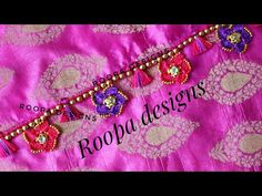 Saree Kuchu New Designs, Saree Tassels Designs, Wedding Saree Blouse Designs, Saree Wedding, Crochet Edgings, Chrochet, Crochet Flower Tutorial, Crochet Flowers, Desi Wedding Decor