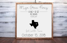 Announcement Wall Art Names Printing Pattern Simple Key: 5771042933 Farmhouse Nursery Decor, Modern Farmhouse Decor, Farmhouse Signs, Rustic Decor, Nursery Signs, Nursery Wall Art, Nursery Ideas, Gifts For New Parents, New Baby Gifts