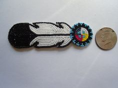 Nakonaeaglethunder - Native American Beadwork for Sale's - Hair Barrettes pg2