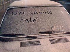 Kaiya had been getting messages on her snow dusted car for weeks. Smudged finger painted messages written on the glass of her windshield through the soft white flakes. Sometimes, if she was just stopping by her car to grab a forgotten purse or coffee, she would write back.
