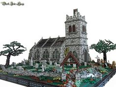 St. Gwydre's Church by Luke Watkins Hutchinson (Derfel Cardarn) Another amazing MOC. It has the same brick/stone techniques as his others. Look closely at the windows. They are amazing.