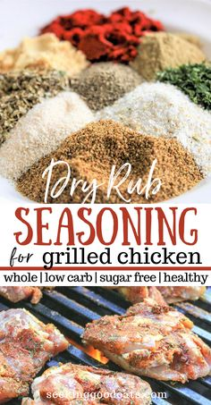Make the best grilled chicken with this dry rub – it results in the most tender chicken (or grilled pork) ever! This simple easy recipe is sugar free, low carb, and keto friendly. You'll will love this foolproof healthy recipe. Try our recipe for Dry Rub Grilled Chicken Rub, Dry Rub For Chicken, Grilled Pork, Baked Chicken, Grilling Recipes, Keto Recipes, Healthy Recipes, Grilling Ideas, Healthy Grilled Chicken Recipes