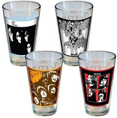 Everyone loves The Beatles so why not add them to your classic glassware collection. The Beatles Pint Glasses come in two varieties: The Album Cover Series Beatles Album Covers, Beatles Albums, The Beatles, Classic Glassware, Mug Cup, Teapots, Drinkware, Pint Glass, Cups