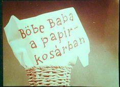 Böbe baba a papírkosárban - diafilm Bobe, Montessori, Decoupage