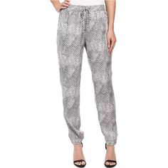 MICHAEL Michael Kors Serpent Track Pants (Concrete) ($27) ❤ liked on Polyvore featuring activewear, activewear pants, multi, track pants and michael michael kors