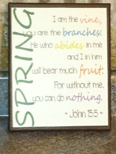 Spring decor - Easter wall hanging - Bible verse on Etsy, $19.99