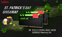 GeIL Memory St. Patrick's Day Giveaway