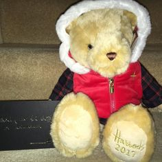 Christmas can start now the Harrods Christmas Bear has arrived.