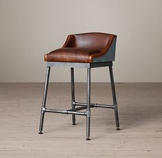 Iron Scaffold Counter Stool only $649... like, for one stool (HA! A girl can dream)