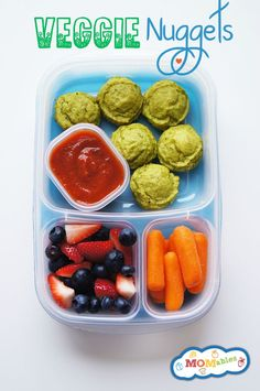 Easy Veggie Nuggets  perfect for the lunchbox! #lunch #recipes #ideas #kids