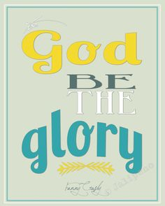 """To God Be the Glory"" INSTANT DOWNLOAD PRINTABLE 8x10 / 16x20 Religious Christian Gift Wall Art Oprah Winfrey Hymn Lyrics Home Decor Quote - this was the VERY last thing Oprah Winfrey said on the series finale of the Oprah show. Powerful, humble words. It's perfect for any wall or as a gift!"