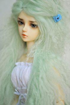 Mint Green SD BJD Wig