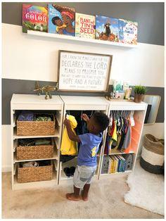 Ikea Montessori, Montessori Toddler Bedroom, Boy Toddler Bedroom, Toddler Room Decor, Baby Boy Rooms, Baby Room Decor, Kids Bedroom, Ikea Toddler Room, Room Baby