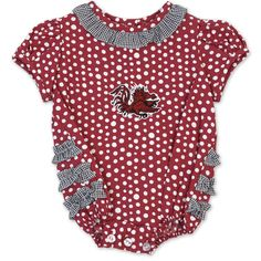 Garnet Bubble Polka Dot Infant Onesie #gamecocks
