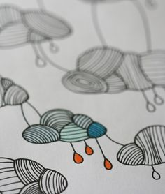 Colour In Collaboration No 3  Printable Colour In by annarubyking, $5.00