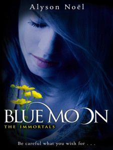 Night time reading... Blue Moon Alyson Noel Review