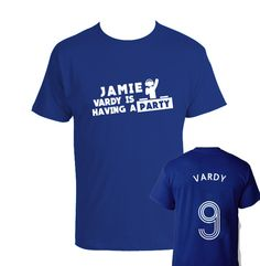 Kids Childrens Jamie Vardy/'s Having A Party Leicester City Football Fan T-shirt