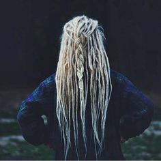 Blonde braided dreads Continue reading by clicking the image or link, or why not visit us in person at our salon for more great inspirational hair ideas. Dreads Styles, Dreadlock Hairstyles, Curled Hairstyles, Curled Blonde Hair, Blonde Dreads Girl, Blonde Dreadlocks, Thin Dreads, Blonde Dreads, Blonde Box Braids