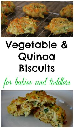 vegetables and quinoa biscuits for babies baby led weaning