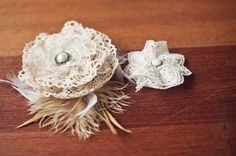 This is an easy to make hair piece or  vintage accent to a bouquet. Love it!