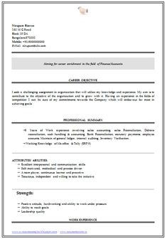 Resume Sample Of An Experience Chartered Accountant With Great