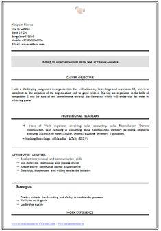 Commerce Graduate Resume Sample