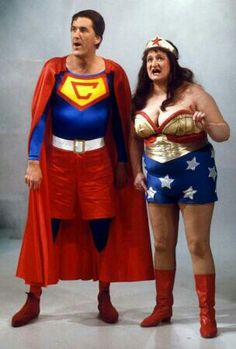 Not exactly Wonder Woman, but close: Blunder Woman (Bella Emberg) with Cooperman (Russ Abbott) from Russ Abbotts Madhouse. 1980s Childhood, Childhood Memories, Kids Tv Shows, Comedy Tv, 80s Kids, Vintage Tv, Teenage Years, Old Tv, Classic Tv