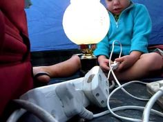 Liam - Laughing while playing with a light