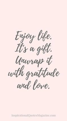 Inspirational Quote about Life, Gratitude and Happiness - Visit us at InspirationalQuotesMagazine.com for the best inspirational quotes!