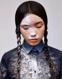 Jung Sun Ju by Mei Yuan Gui for Harper's Bazaar China March 2015 beauty makeup gucci