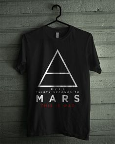 30 Thirty Seconds To Mars This is War Black Shirt | Desainselling - Clothing on ArtFire