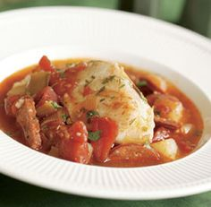 Cod Stew with Chorizo, Leeks & Potatoes