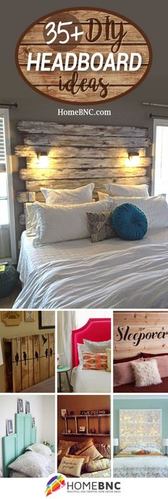 great DIY headboard ideas to spice up your bedroom! - Sweet DIY great DIY headboard ideas to spice up your bedroom!This headboard has a storage compartment behind the head and another over it.