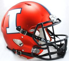 Illinois Fighting Illini Authentic Full Size Speed Helmet - Orange - White I