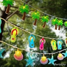 Beach and Nautical String Lights: http://www.completely-coastal.com/2016/05/beach-nautical-string-lights.html Light up your night coastal style. Fun string lights. Flip flops, shells, lighthouses...
