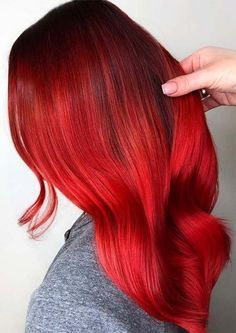 Extreme Brushed Red Hair Looks and Styles 2019 Extreme Brushed Red Hair Looks an. - Extreme Brushed Red Hair Looks and Styles 2019 Extreme Brushed Red Hair Looks and Styles 2019 - Hair Color For Fair Skin, Hair Color Pink, Hair Color For Black Hair, Brown Hair Colors, Cool Hair Color, Grey Hair, Hair Color Highlights, Hair Color Balayage, Red Hair Looks