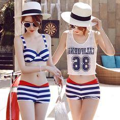 27.24$  Watch now - https://alitems.com/g/1e8d114494b01f4c715516525dc3e8/?i=5&ulp=https%3A%2F%2Fwww.aliexpress.com%2Fitem%2F2016-Korea-new-swimsuit-fashion-sexy-steel-prop-three-piece-swimsuit-models-in-bikinis%2F32703985227.html - Swim Wear 2016 Bikini Top Girls Swiming Suit Woman Swimsuit New Beachwear Beach Three Piece Lycra Spandex Biquinis Mulheres