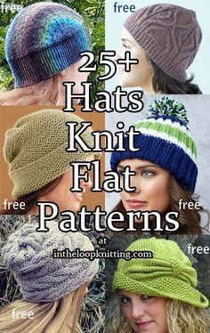 Knitting Patterns for Hats Knit Flat