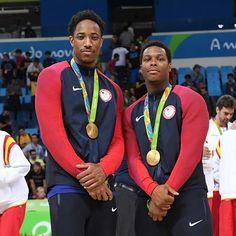 Two Toronto Raptors repping the USA Olympic Team Team Usa Basketball, Basketball Scoreboard, Rap City, Kyle Lowry, Usa Olympics, Olympic Team, American Sports, Toronto Raptors, Down South