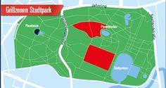 Grillzonen im Stadtpark