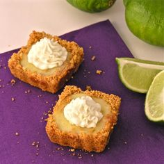 mini key lime pies with graham cracker crust - fun party food!