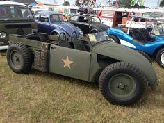 VW beatle bug v rod military theme