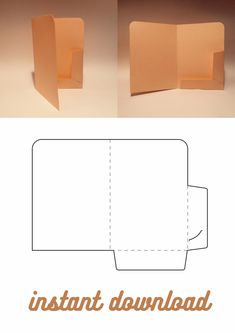 Folder Diy, Paper Folder, Origami Envelope, Diy Envelope, Diy Gift Box Template, Diy Birthday Gifts For Friends, Homemade Gift Boxes, Diy Crafts To Do, Box Templates Printable Free