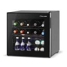 Wine Cooler Fridge Wine Fridge Freezer Bottle Fridge 10 Bottle Cooler + Basket #WineCoolerFridge