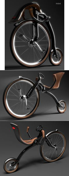 Oneybike, a folding recumbent bicycle designed by  Peter Varga      Intelligent gearing, reasonable cost and regenerative braking and this becomes the best bicycle ever made.
